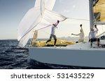sailing yacht race. yachting.... | Shutterstock . vector #531435229