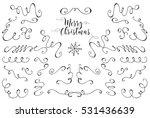 christmas elements. hand... | Shutterstock .eps vector #531436639