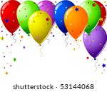 party balloons | Shutterstock .eps vector #53144068