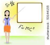 lady teacher. | Shutterstock .eps vector #53144155