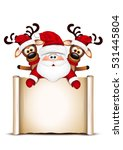 christmas card santa claus and... | Shutterstock . vector #531445804