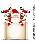 christmas card santa claus and... | Shutterstock .eps vector #531447058