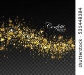 glittering golden stream of... | Shutterstock .eps vector #531448384