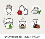 spa and wellness icons set   Shutterstock .eps vector #531449104