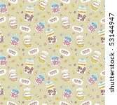 seamless sweets pattern in... | Shutterstock .eps vector #53144947