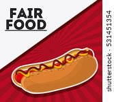 hot dog fair food snack...   Shutterstock .eps vector #531451354