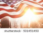 focus on usa flag against... | Shutterstock . vector #531451453