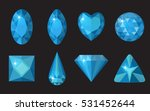 blue gems set. jewelry ... | Shutterstock .eps vector #531452644