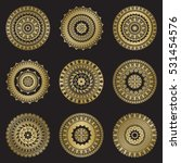 gold color round abstract... | Shutterstock .eps vector #531454576