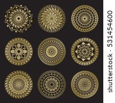 gold color round abstract... | Shutterstock .eps vector #531454600