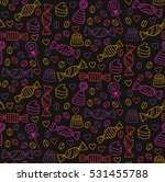 candy sweets cute doodles... | Shutterstock .eps vector #531455788