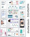 geometric background template... | Shutterstock .eps vector #531456994