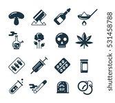 drugs  alcohol  pills  tablet ... | Shutterstock .eps vector #531458788