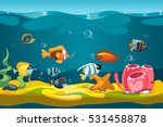 underwater sea with fishes and... | Shutterstock .eps vector #531458878
