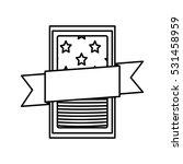 isolated usa flag inside frame... | Shutterstock .eps vector #531458959