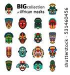 tribal ethnic african mask big... | Shutterstock .eps vector #531460456
