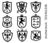 royal shields  nobility... | Shutterstock .eps vector #531461338