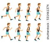 running athletic man in... | Shutterstock .eps vector #531461374