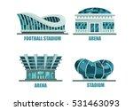 glassware futuristic football...   Shutterstock .eps vector #531463093