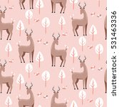 seamless pattern with cute... | Shutterstock .eps vector #531463336