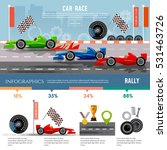 car racing infographic  auto... | Shutterstock .eps vector #531463726