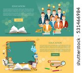 education banner  students... | Shutterstock .eps vector #531466984