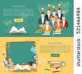education banner  students... | Shutterstock .eps vector #531466984