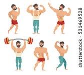 set of muscular  bearded mans... | Shutterstock .eps vector #531469528