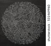 cartoon cute doodles hand drawn ... | Shutterstock .eps vector #531469960