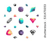 color crystals  diamond shapes  ... | Shutterstock .eps vector #531470353