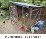 Chicken Coop With Chickens In...