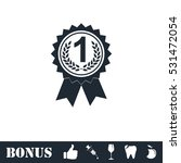 award medals icon flat. vector...