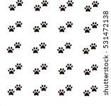 dog footprint | Shutterstock .eps vector #531472138