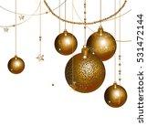balls ornate vertical winter... | Shutterstock .eps vector #531472144