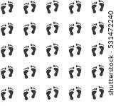 human footprints background | Shutterstock .eps vector #531472240