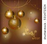 balls ornate vertical winter... | Shutterstock .eps vector #531472324
