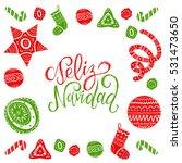vector feliz navidad ... | Shutterstock .eps vector #531473650