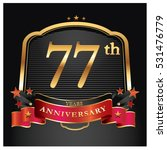 77 years golden anniversary... | Shutterstock .eps vector #531476779