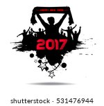 new year 2017. clouds from the... | Shutterstock .eps vector #531476944