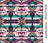 retro colors tribal vector... | Shutterstock .eps vector #531477634
