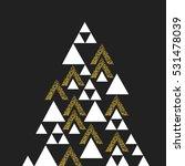 gold geometric christmas tree... | Shutterstock .eps vector #531478039