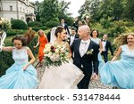 bride and groom smile to each... | Shutterstock . vector #531478444