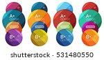 set of round option diagram... | Shutterstock .eps vector #531480550