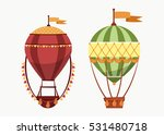 hot air floating balloons icons ... | Shutterstock .eps vector #531480718