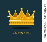 medieval queen crown or king... | Shutterstock .eps vector #531480754
