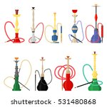 set of hookah with pipe for... | Shutterstock .eps vector #531480868