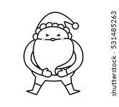santa claus xmas cartoon icon... | Shutterstock .eps vector #531485263