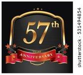 57 years golden anniversary... | Shutterstock .eps vector #531494854