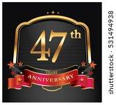 47 years golden anniversary... | Shutterstock .eps vector #531494938