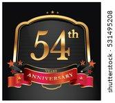 54 years golden anniversary... | Shutterstock .eps vector #531495208